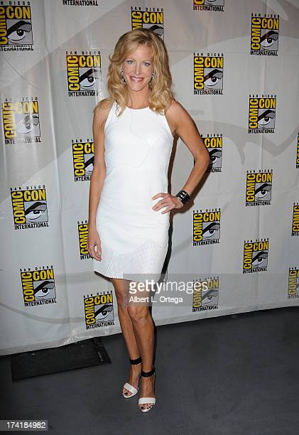 Actress Anna Gunn at the 'Breaking Bad' panel during ComicCon International 2013 at San Diego Convention Center on July 21 2013 in San Diego...