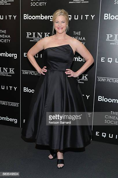 Actress Anna Gunn attends a screening of Sony Pictures Classics' 'Equity' hosted by The Cinema Society with Bloomberg and Thomas Pink at The Museum...