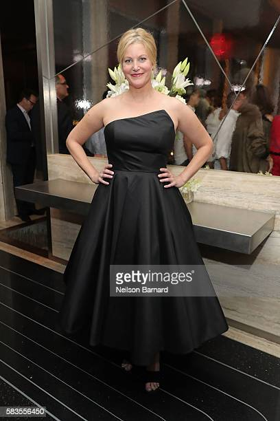 Actress Anna Gunn attends the after party for Sony Pictures Classics' Equity screening hosted by The Cinema Society with Bloomberg and Thomas Pink at...