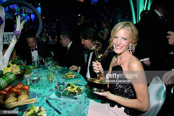 Actress Anna Gunn attends the Governors Ball during the 65th Annual Primetime Emmy Awards at Nokia Theatre LA Live on September 22 2013 in Los...