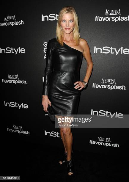 Actress Anna Gunn attends the Miss Golden Globe event at Fig Olive Melrose Place on November 21 2013 in West Hollywood California