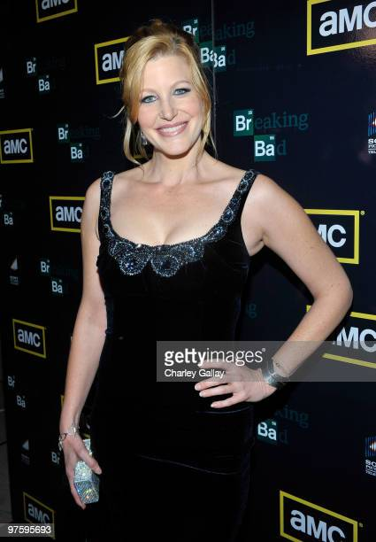 Actress Anna Gunn attends the Season Three premiere of AMC and Sony Pictures Television's 'Breaking Bad' at the ArcLight Hollywood Cinemas on March...