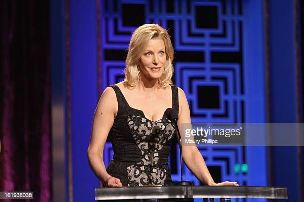 Actress Anna Gunn speaks onstage during the 2013 WGAw Writers Guild Awards at JW Marriott Los Angeles at L.A. LIVE on February 17, 2013 in Los...
