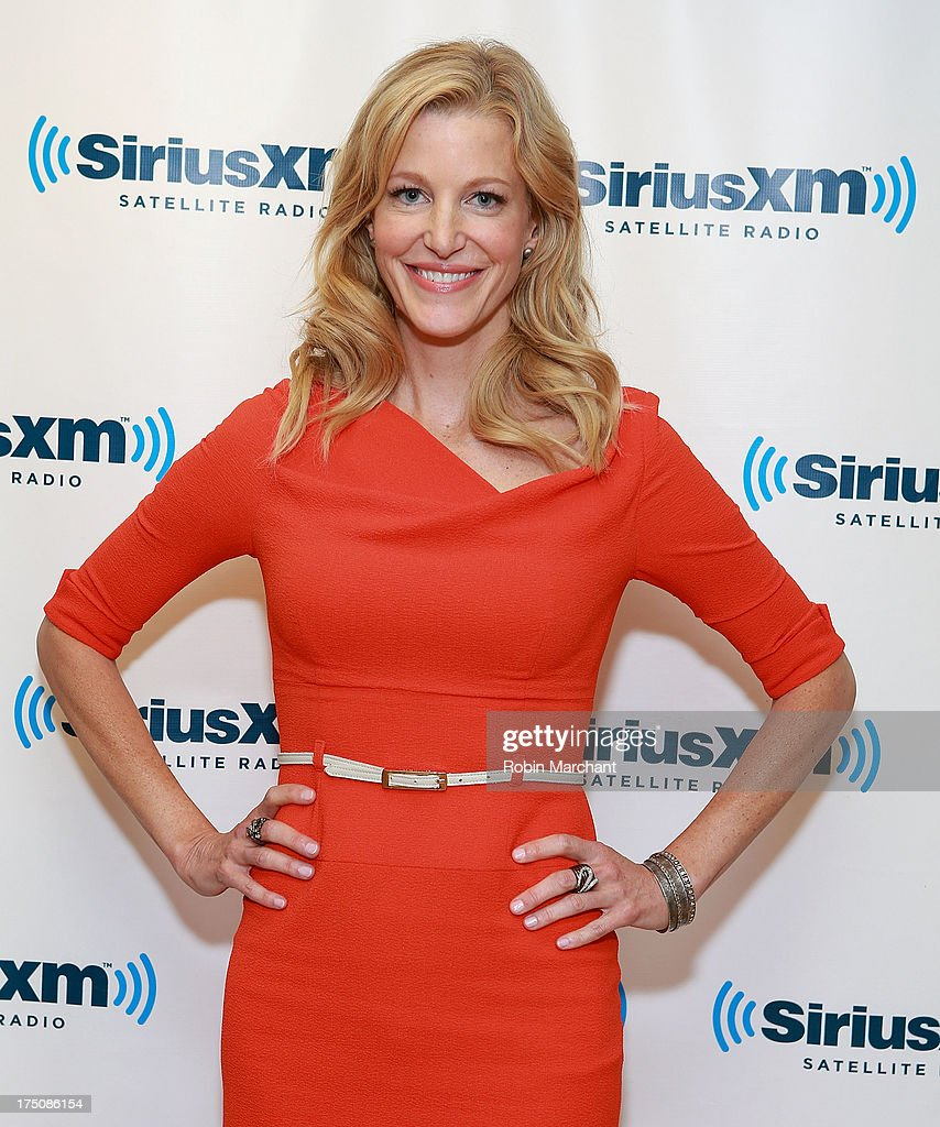 Actress Anna Gunn visits SiriusXM Studios on July 31, 2013 in New York City.