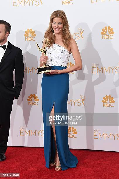 Actress Anna Gunn winner of Outstanding Drama Series Award and Outstanding Supporting Actress in a Drama Series for Breaking Bad poses in the press...