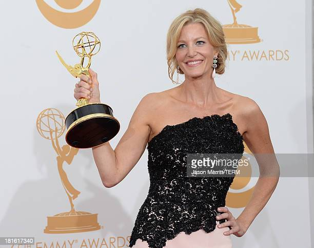 Actress Anna Gunn winner of the Best Supporting Actress in a Drama Series Award for Breaking Bad poses in the press room during the 65th Annual...