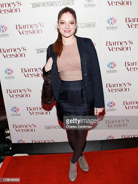 Actress Anna Hopkins attends the New York premiere of Barney's Version at The Paris Theatre on January 10 2011 in New York City
