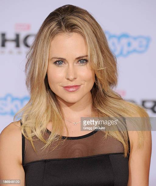Actress Anna Hutchison arrives at the Los Angeles premiere of 'Thor The Dark World' at the El Capitan Theatre on November 4 2013 in Hollywood...