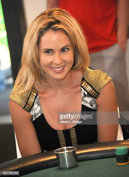 Actress Anna Hutchison at the 4th Annual Variety The Children's Charity Of Southern CA Texas Hold 'Em Poker Tournament held at Paramount Studios on...