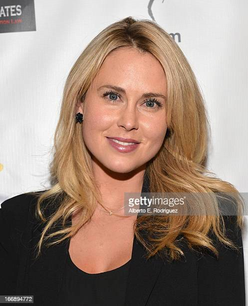 Actress Anna Hutchison attends Australians In Film's screening of Revival Film Company's 'Blinder' at Los Angeles Film School on April 17 2013 in Los...