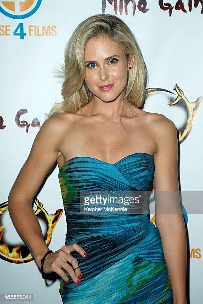 Actress Anna Hutchison attends the Mine Games Premiere at Los Feliz 3 Cinemas on September 16 2014 in Los Angeles California