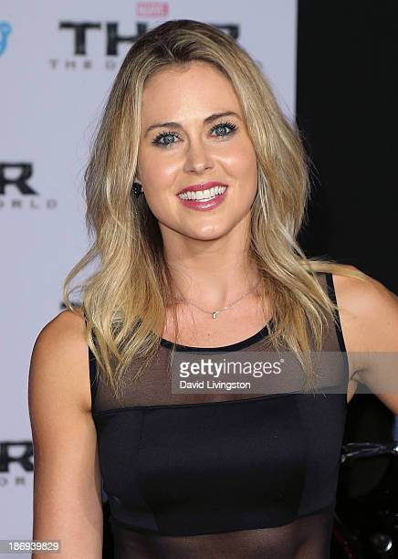 Actress Anna Hutchison attends the premiere of Marvel's 'Thor The Dark World' at the El Capitan Theatre on November 4 2013 in Hollywood California