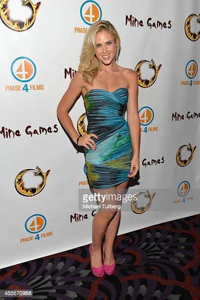 Actress Anna Hutchison attends the premiere of the film 'Mine Games' at Los Feliz 3 Cinemas on September 16 2014 in Los Angeles California