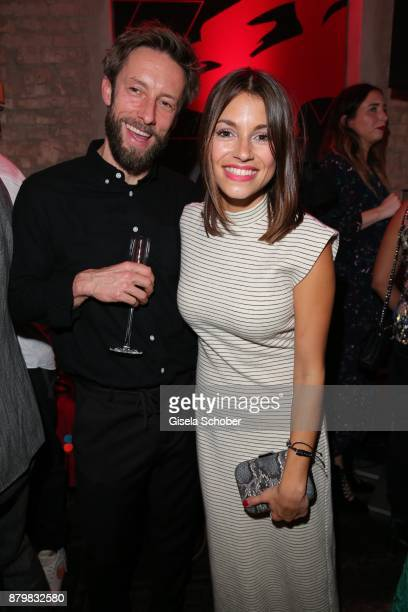 Actress Anna Julia Kapfelsperger and her boyfriend Harald Hermann during the New Faces Award Style 2017 at 'The Grand' hotel on November 15 2017 in...