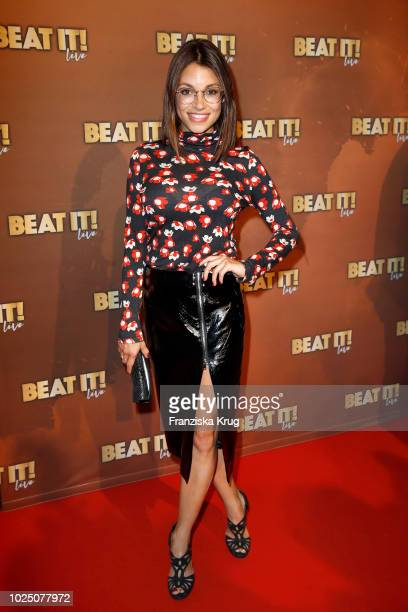Actress Anna Julia Kapfelsperger attends the musical premiere of 'BEAT IT Die Show ueber den King of Pop' at Stage Theater on August 29 2018 in...