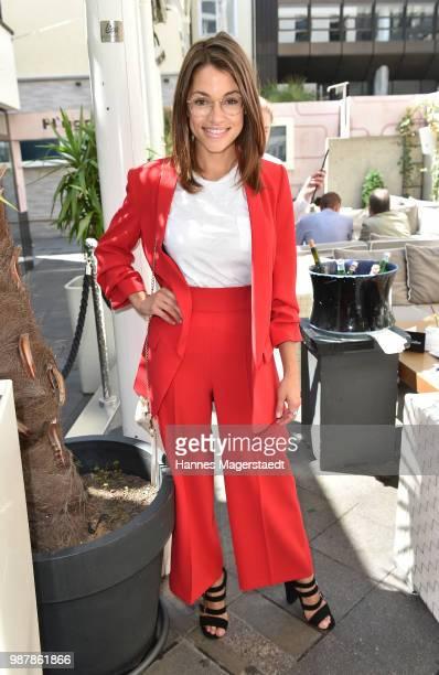 Actress Anna Julia Kapfelsperger attends the 'Sommerfest der Agenturen' during Munich Film Festival 2018 at Hugo's on June 30 2018 in Munich Germany