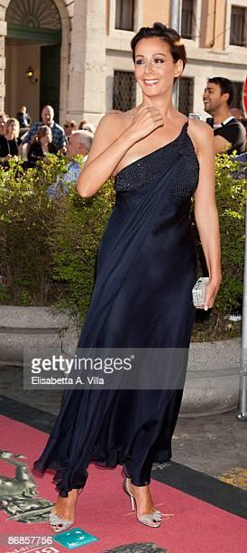 Actress Anna Kanakis arrives at 'David Di Donatello 2009' Italian Movie Awards at Auditorium Conciliazione on May 8, 2009 in Rome, Italy.