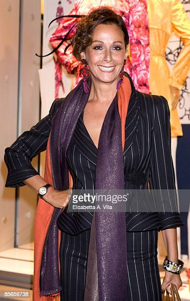 Actress Anna Kanakis attends the Cockatil & Trunk Show to launch the Spring/Summer 2009 Fay collection by designer Giles Deacon at Fay Boutique on...
