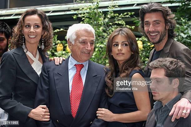 Actress Anna Kanakis, producer Fulvio Lucisano, Spanish actress Monica Cruz, actor Daniele Liottie and actor Vincenzo Bocciarelli pose during the...