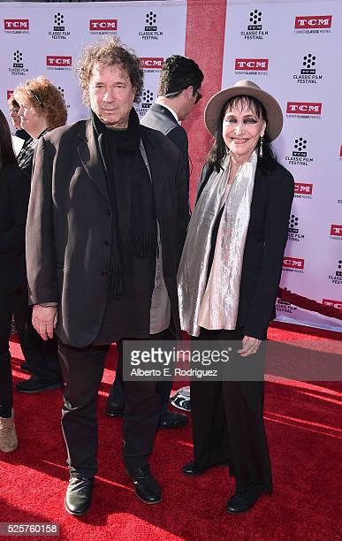 Actress Anna Karina and guest attend 'All The President's Men' premiere during the TCM Classic Film Festival 2016 Opening Night on April 28 2016 in...