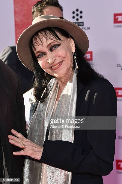 Actress Anna Karina attends 'All The President's Premiere' during the TCM Classic Film Festival 2016 Opening Night on April 28 2016 in Los Angeles...