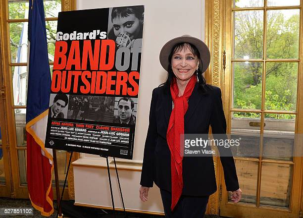 Actress Anna Karina holds a press conference about her career and colaboration with writer/director JeanLuc Godard at French Cultural Services on May...