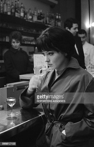 Actress Anna Karina in a Bar in Paris France in 1960