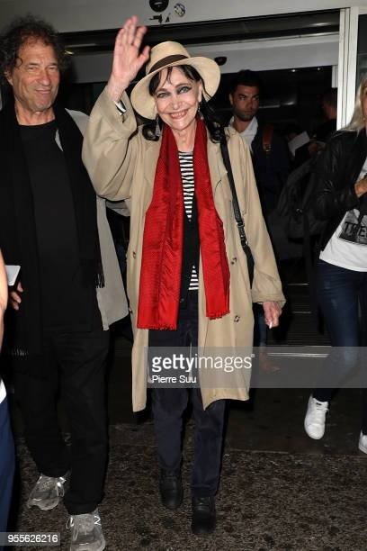 Actress Anna Karina is seen arriving at Nice Airport during the 71st annual Cannes Film Festival at on May 7 2018 in Nice France