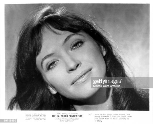 Actress Anna Karina poses for a portrait as Anna Bryant in The Salzburg Connection circa 1972