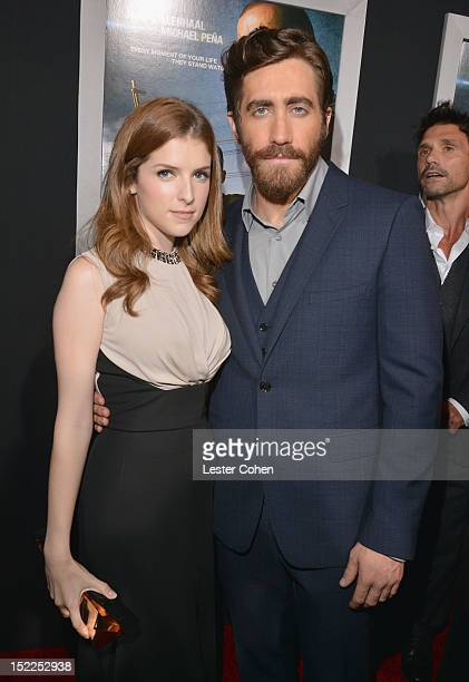 """Actress Anna Kendrick and actor Jake Gyllenhaal arrive at the """"End Of Watch"""" Los Angeles Premiere at Regal Cinemas L.A. Live on September 17, 2012 in..."""