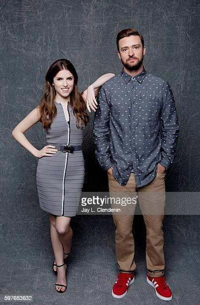 Actress Anna Kendrick and Actor Justin Timberlake of Dreamworks's 'Trolls' are photographed for Los Angeles Times at San Diego Comic Con on July 22...