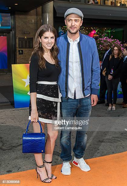 Actress Anna Kendrick and actor/singer-songwriter Justin Timberlake attend Macy's celebrates 'Troll' at Macy's Herald Square on October 6, 2016 in...