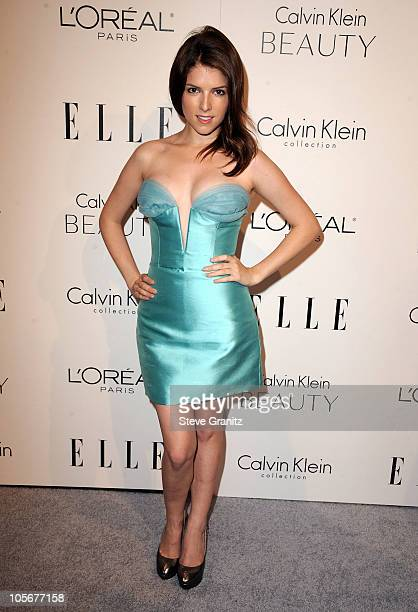 Actress Anna Kendrick arrives at ELLE's 17th Annual Women in Hollywood Tribute at The Four Seasons Hotel on October 18 2010 in Beverly Hills...