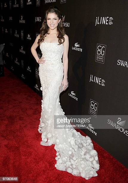 Actress Anna Kendrick arrives at the 12th Annual Costume Designers Guild Awards with Presenting Sponsor Swarovski at The Beverly Hilton hotel on...