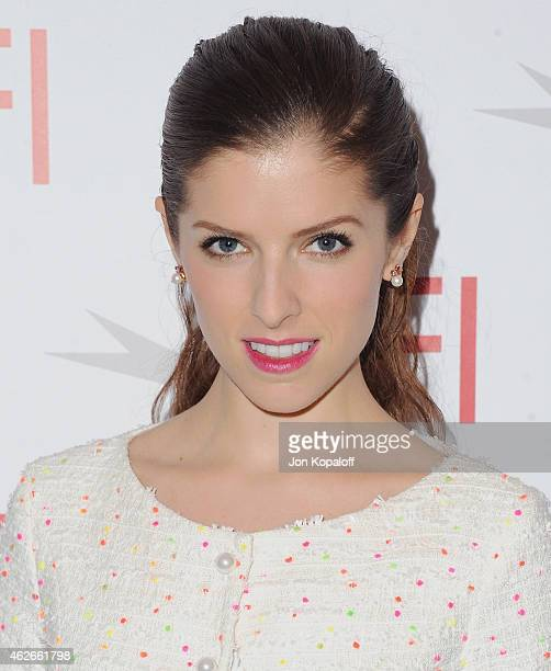Actress Anna Kendrick arrives at the 15th Annual AFI Awards at Four Seasons Hotel Los Angeles at Beverly Hills on January 9, 2015 in Beverly Hills,...