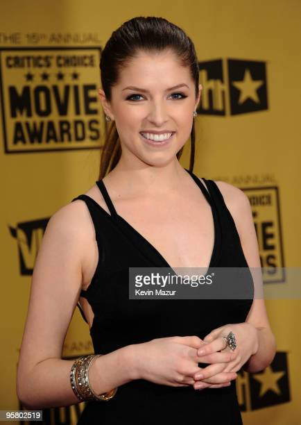 Actress Anna Kendrick arrives at the 15th annual Critic's Choice Movie Awards held at the Hollywood Palladium on January 15 2010 in Hollywood...