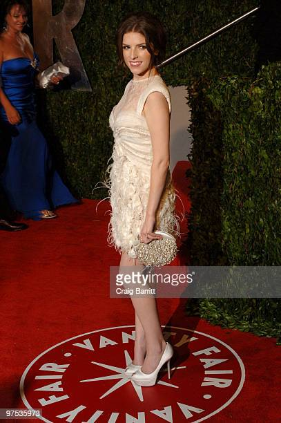 Actress Anna Kendrick arrives at the 2010 Vanity Fair Oscar Party hosted by Graydon Carter held at Sunset Tower on March 7, 2010 in West Hollywood,...
