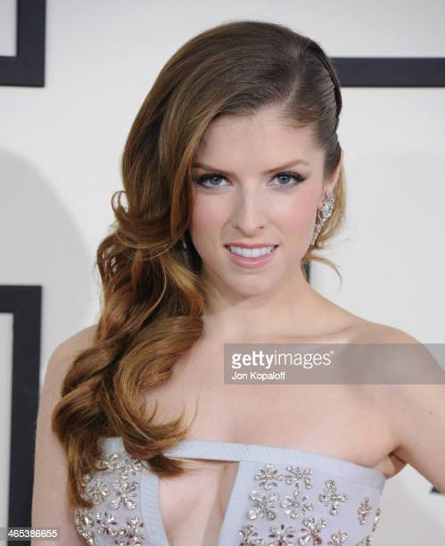 Actress Anna Kendrick arrives at the 56th GRAMMY Awards at Staples Center on January 26 2014 in Los Angeles California