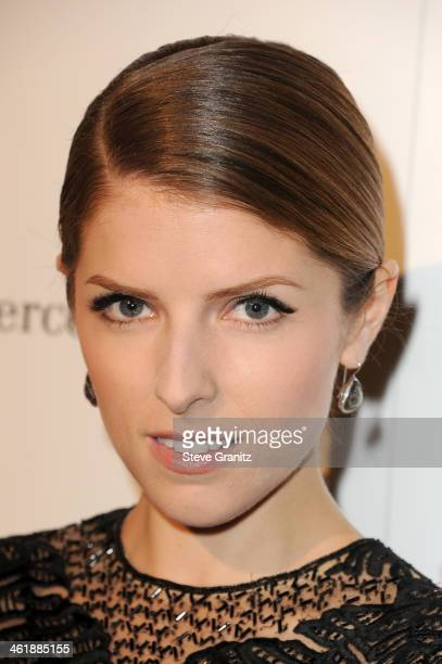 Actress Anna Kendrick arrives at The Art of Elysium's 7th Annual HEAVEN Gala presented by Mercedes-Benz at Skirball Cultural Center on January 11,...