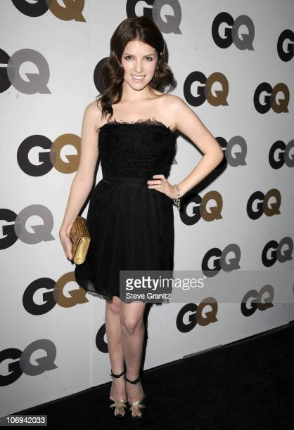 Actress Anna Kendrick arrives at the GQ 2010 Men of the Year held at Chateau Marmont on November 17 2010 in Los Angeles California