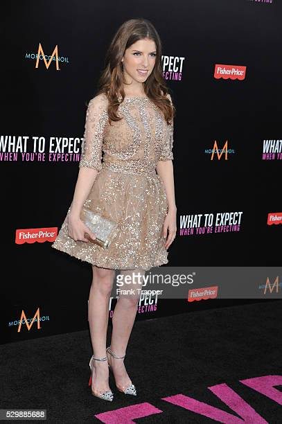 Actress Anna Kendrick arrives at the premiere of What To Expect When Your Expecting premiere held at Grauman's Chinese Theater