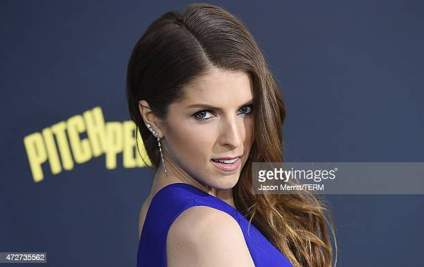 Actress Anna Kendrick arrives at the World Premiere of 'Pitch Perfect 2' held at the Nokia Theatre LA Live on Friday May 8 in Los Angeles