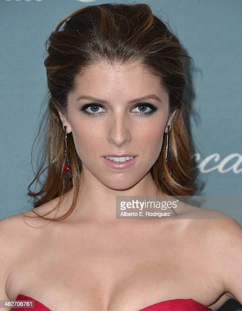 Actress Anna Kendrick arrives to the 2014 UNICEF Ball Presented by Baccarat at the Regent Beverly Wilshire Hotel on January 14 2014 in Beverly Hills...