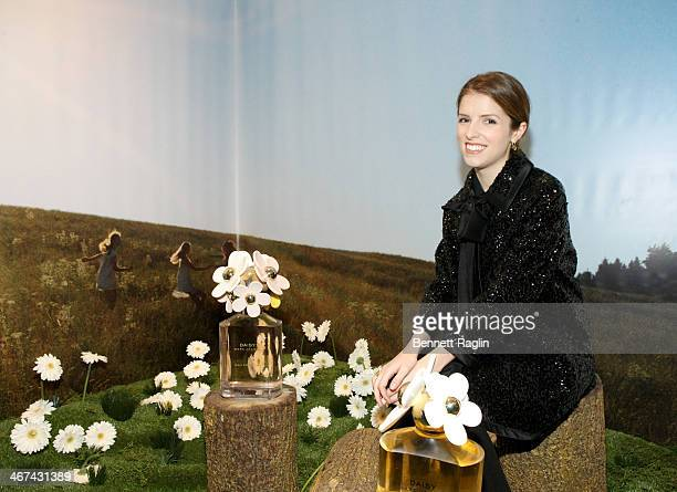 Actress Anna Kendrick attend the Marc Jacobs Daisy Chain Tweet Pop Up Shop Party at Marc Jacobs Pop Up Shop on February 6 2014 in New York City