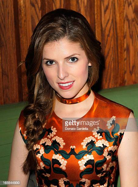 Actress Anna Kendrick attend Vogue's Triple Threats dinner hosted by Sally Singer and Lisa Love at Goldie's on April 3 2013 in Los Angeles California