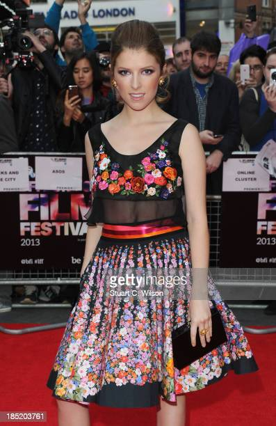 Actress Anna Kendrick attends a screening of Drinking Buddies during the 57th BFI London Film Festival at Odeon West End on October 18 2013 in London...
