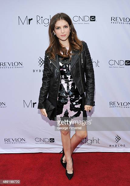 Actress Anna Kendrick attends Mr Right TIFF premiere dinner at BYBLOS Toronto hosted by Revlon Professional Brands on September 19 2015 in Toronto...