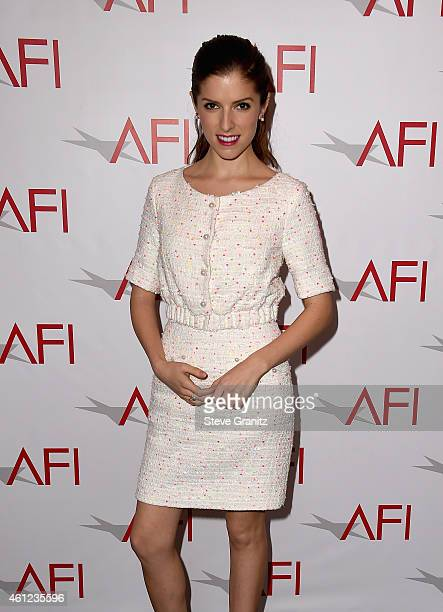 Actress Anna Kendrick attends the 15th Annual AFI Awards at Four Seasons Hotel Los Angeles at Beverly Hills on January 9, 2015 in Beverly Hills,...