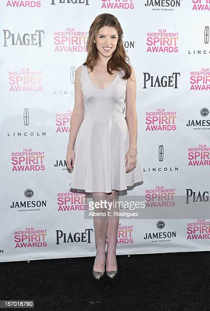 Actress Anna Kendrick attends the 2013 Film Independent Spirit Awards Nominations Announcement at W Hollywood on November 27 2012 in Hollywood...