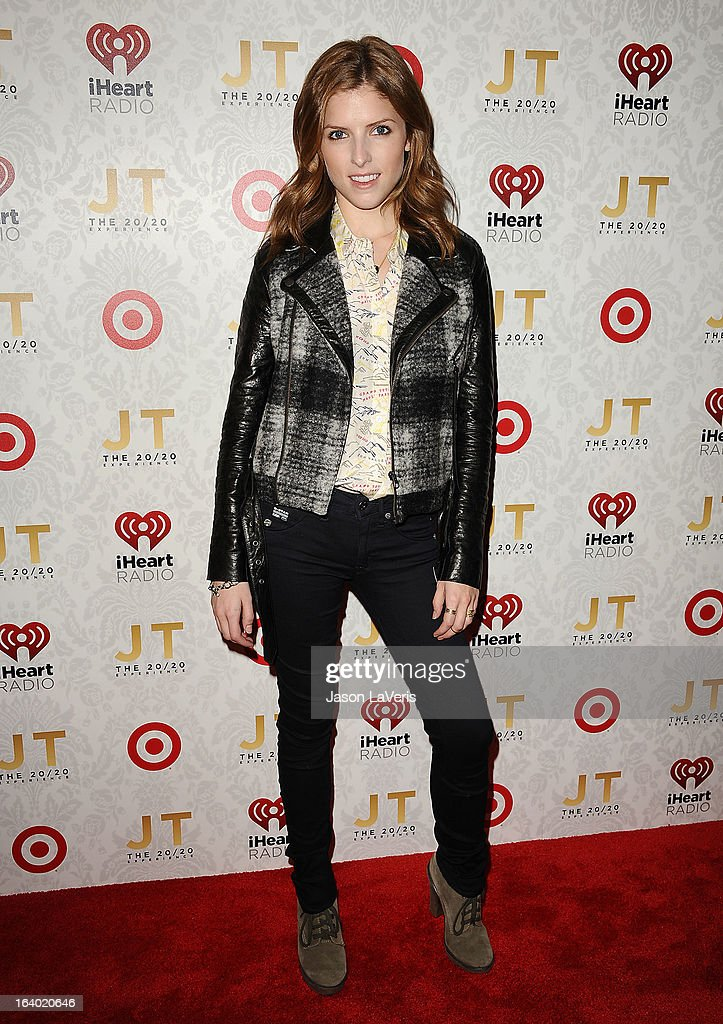 Actress Anna Kendrick attends the '20/20' album release party with Justin Timberlake at El Rey Theatre on March 18, 2013 in Los Angeles, California.